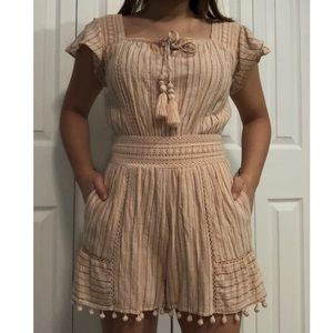 XS American Eagle Romper Pink and Peach